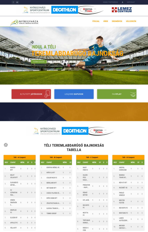 Nyíregyháza - kispályás labdarúgó bajnokság  - IT-Mind Kft. - referencia