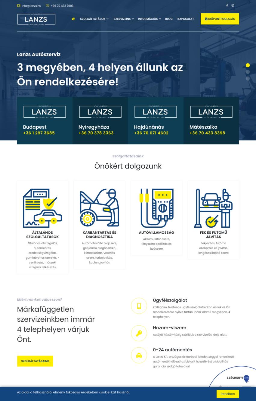 LANZS Autószervíz - IT-Mind Kft. - referencia